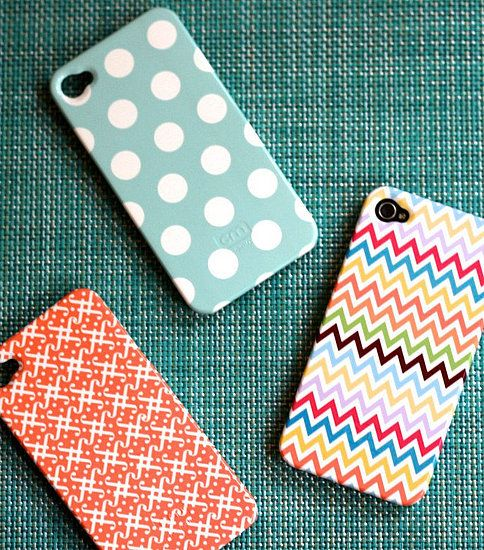 Pencil Shavings Studio's iPhone cases in polka dots, chevron stripes, and fun prints ($40).