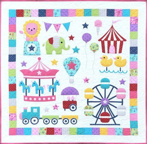 """Mini Fun Fair Quilt"" designed by Melanie McNeice for Melly & Me."