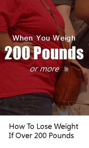 Losing weight when you're already over 200 pounds feels like a hopeless never…