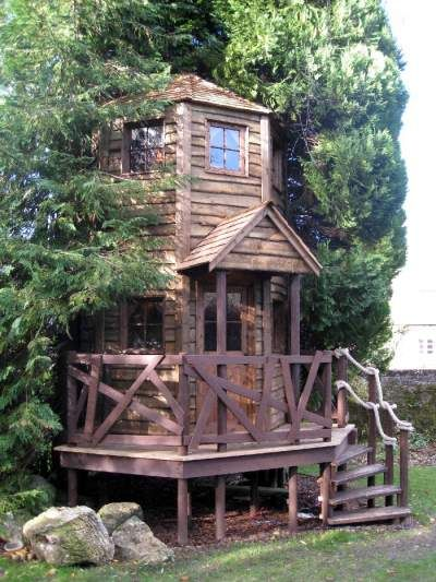 Would love to build a treehouse/playhouse for our kids one day.