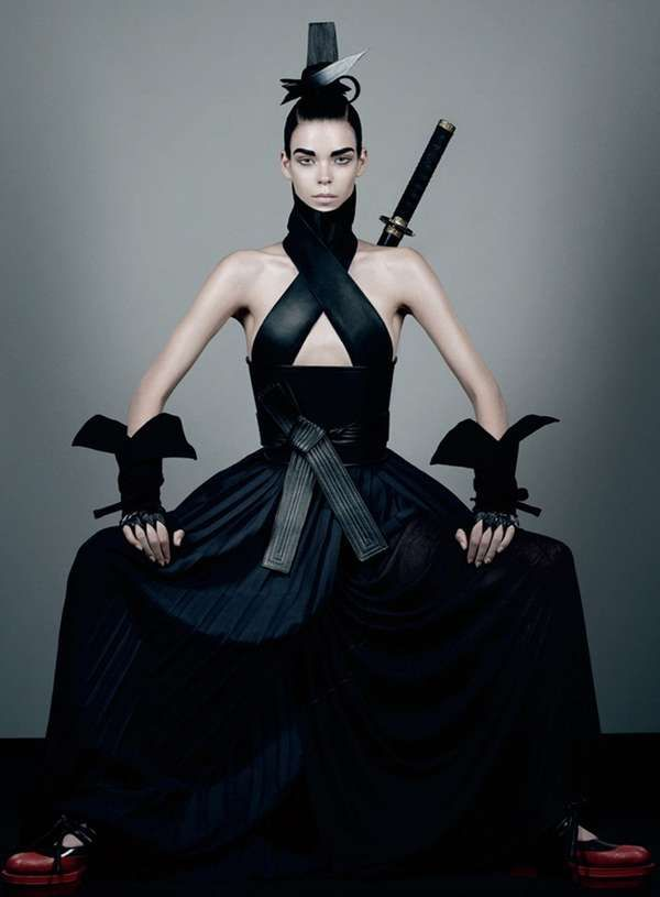 Sultry Samurai Editorials - The Interview Magazine Fall 2012 Issue Boasts Fashionized Fighting (GALLERY)