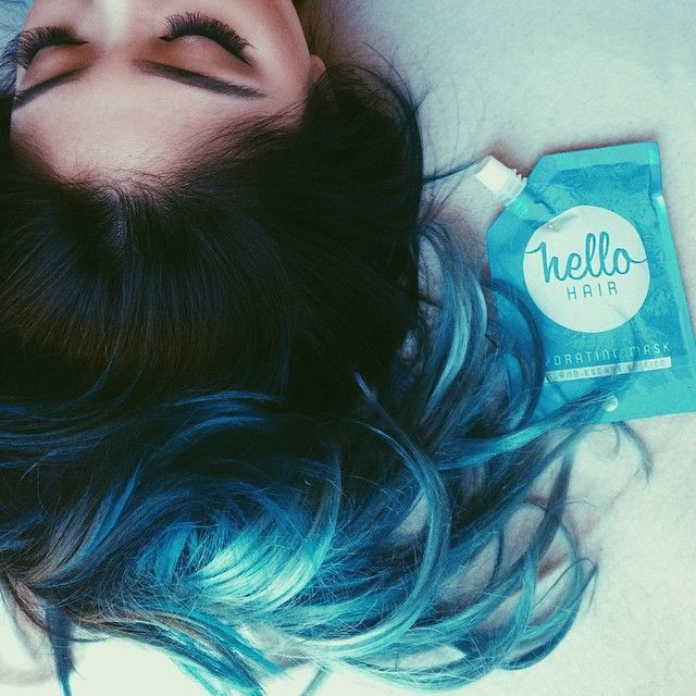 #ShareIG this treatment has not only been keeping my blue locks super soft, its got my hair smelling like coconut too. thanks @ohhellohair for helping me keep up these mermaid vibes ♡