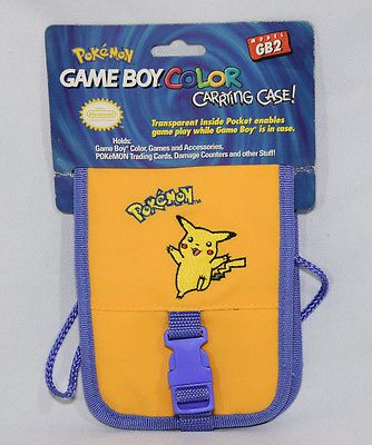 99 Pokemon Pikachu Game Boy Color Carrying Case Storage Cards Counters Game Paks