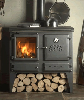 Wow, a woodburner and cooker in one, fantastic.