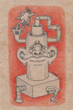 """Saatchi Art Artist Lazaros Kalogirou; Drawing, """"Tea Time"""" #art"""