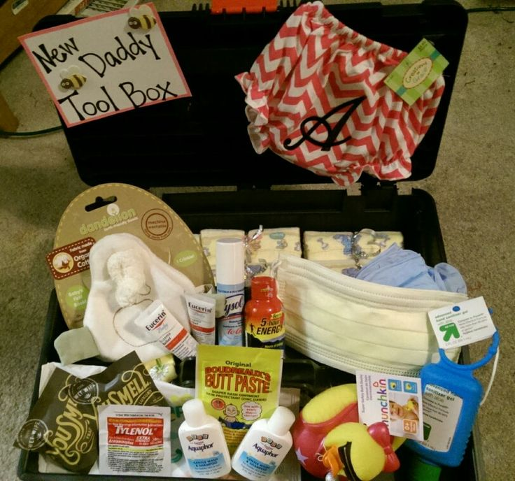 New Baby Gift Ideas Pinterest : New daddy tool box baby shower gift idea ideas