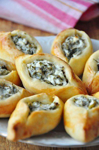 Погача(восточные пирожки) с сыром Фета. Пирожки получаются маленькие, на один укус, и легко ...