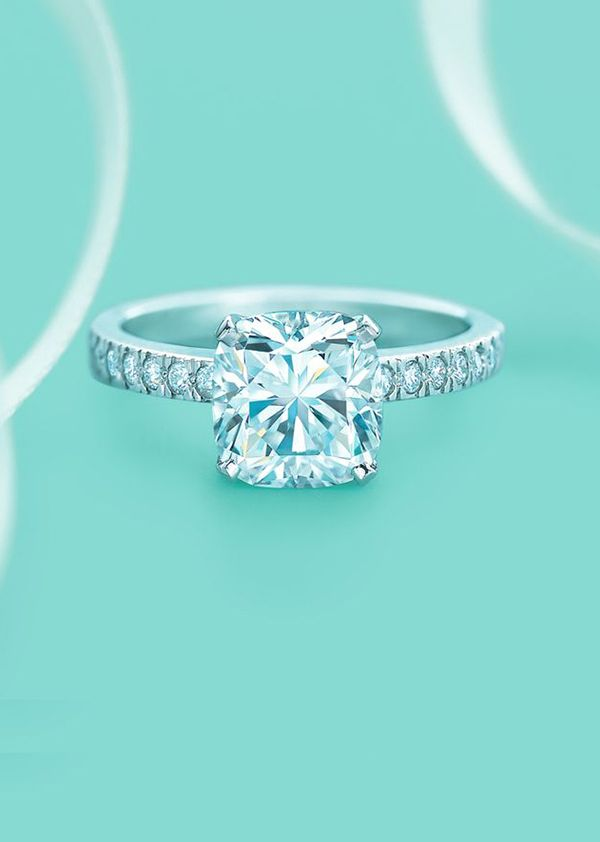 Tiffany's princess cut diamond wedding engagement rings