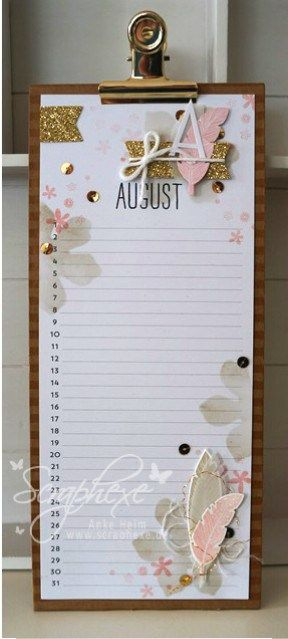 Projektset Kalenderkunst, August, scraphexe