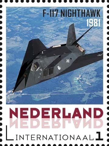 Stamp: Aviation pioneers: Nighthawk 1981 (Netherlands - Personalized stamps) (Aviation pioneers) Col:NL 2015-061