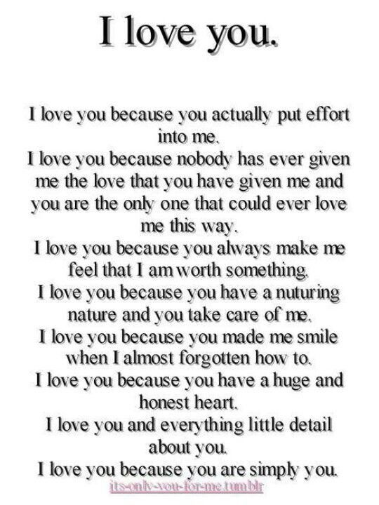 It says it all......I LOVE YOU♥
