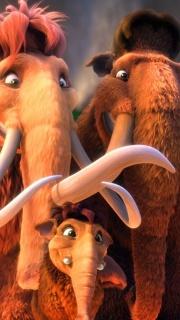 Ice Age 3. manny, Ellie, Peaches