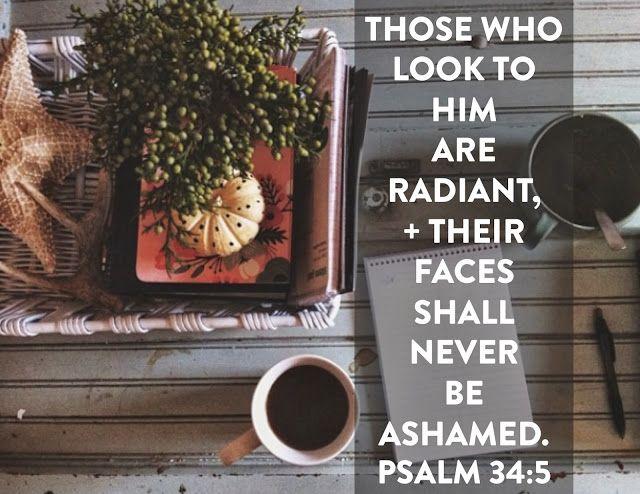 naptime diaries: scripture art Psalm 34:5