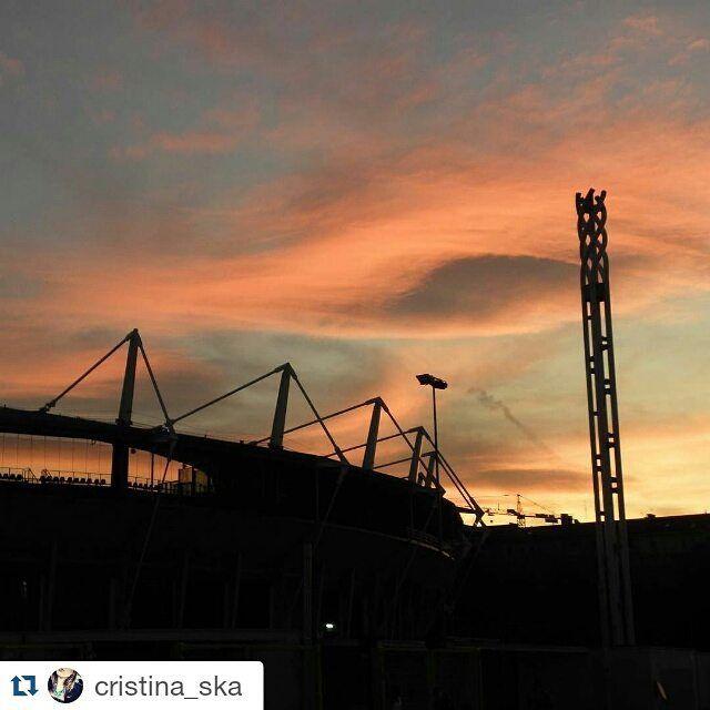 Il cielo sullo stadio Olimpico