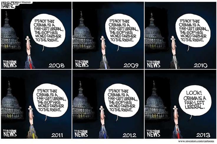 Michael Ramirez Cartoon 01/28/2013 - MSNBC Barack Obama