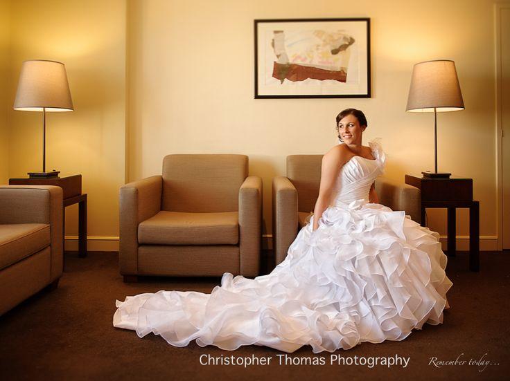 Brisbane Wedding Photographers - bridal portrait, wedding dress, Christopher Thomas Photography