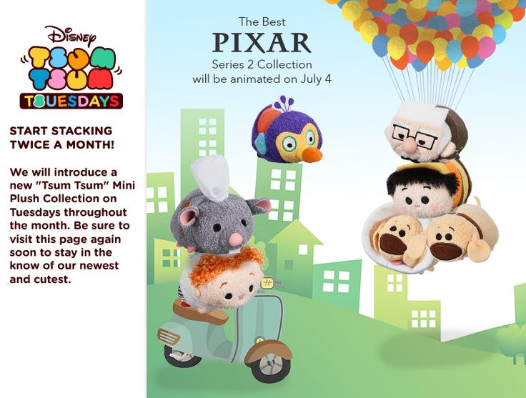 Best of Pixar II Tsum Tsum Collection - Featuring characters from Up and Ratatouille