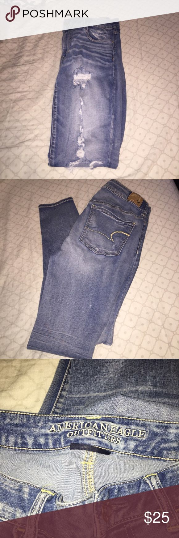 Brand new American Eagle jeans Brand new American Eagle Jeans. Never worn, washed once. No flaws being new. Looking to sell fast so no trades but feel free to make a reasonable offer!!!! If you have any questions or want measurements let me know I reply within 24 hours!!! Happy poshing 😊🎉 American Eagle Outfitters Jeans Skinny