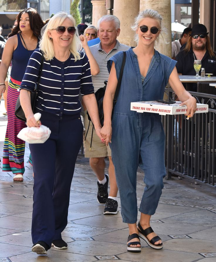Julianne Hough Glows in Denim Jumpsuit While Out with Her Look-Alike Mom in L.A. from InStyle.com
