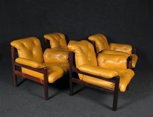 Lauritz.com - Modern furniture - miscellaneous - Jean Gillon, chair for Italma Wood Art Industria Brasileira (4) - DE, Düsseldorf, Kappeler Straße