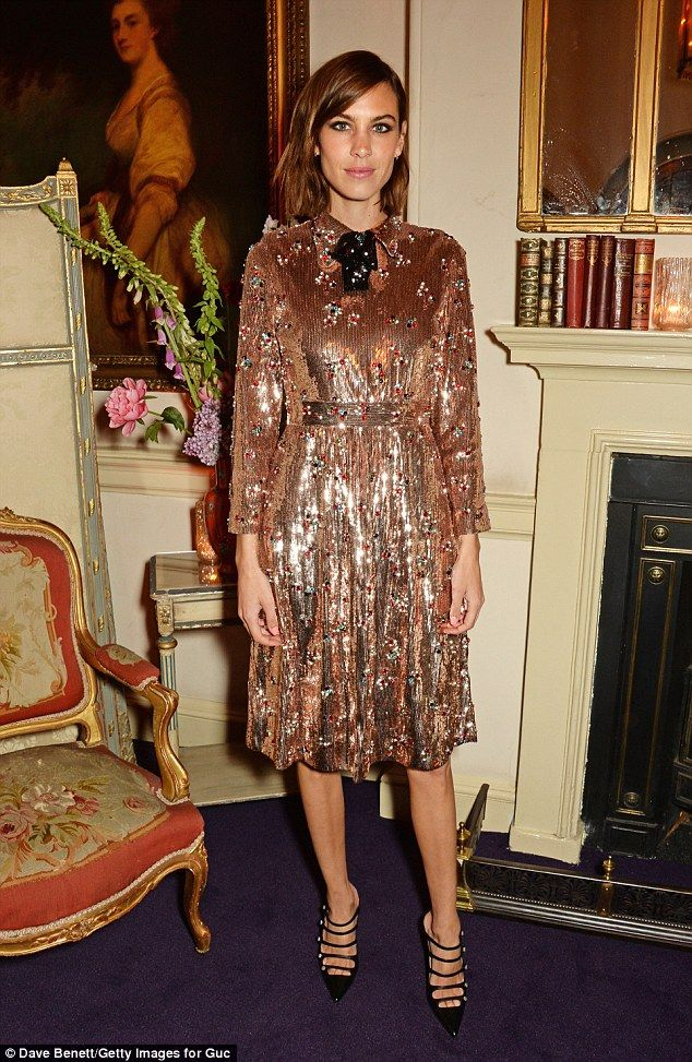 Fashionista: Alexa Chung attends the Gucci party at 106 Piccadilly in celebration of the Gucci Cruise 2017 fashion show on June 2 2016 in London England