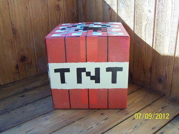 Minecraft TNT Valentine Box | Valentine Love