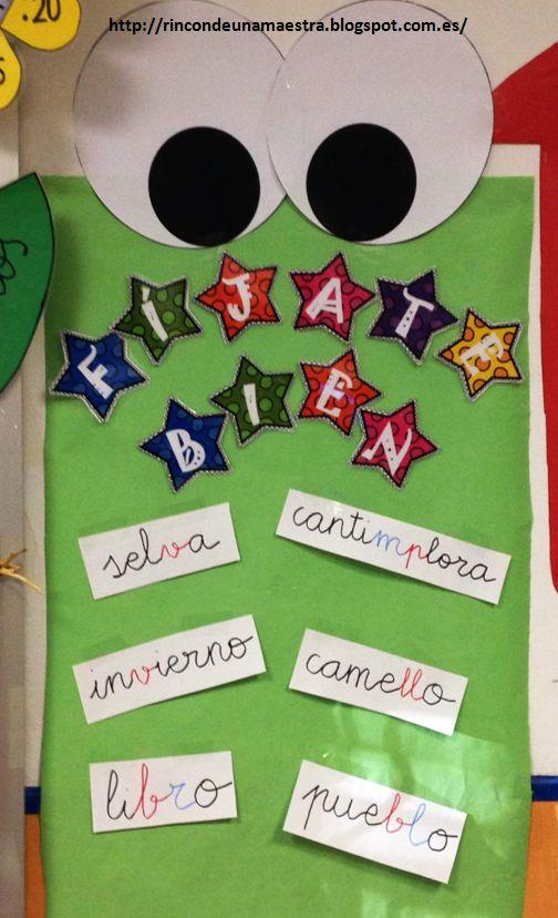Rincón de una maestra: ¡Fíjate bien!