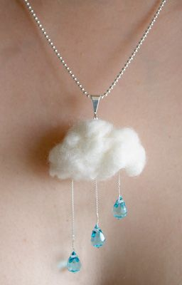 Silver wire cloud outline instead of fluff...