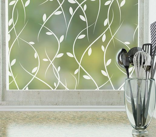Modern Window Film - Cling / Non Adhesive Patterned Privacy Window Films