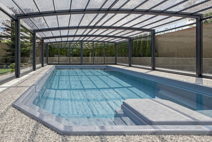 Zastřešení bazénu - POPP - PRESTIGE P3 - prostorný, robustní, čité linie