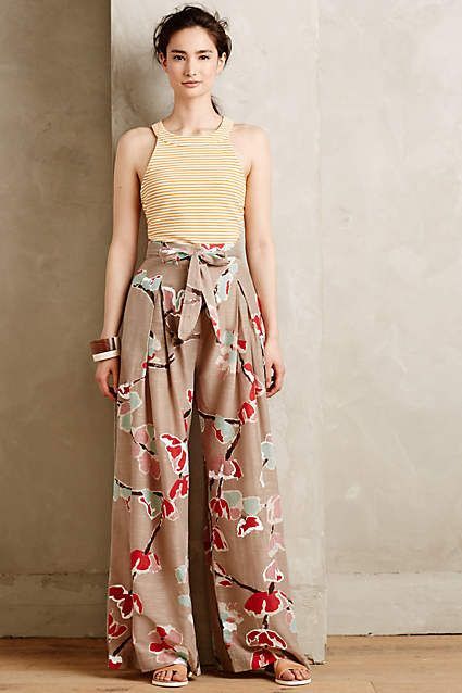 Flora Wide-Legs - anthropologie.com