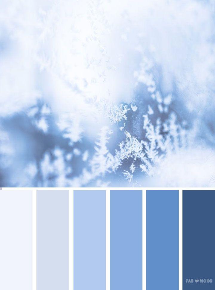 Ice Blue Color Palette Winter Color Palette Blue Color Pallet