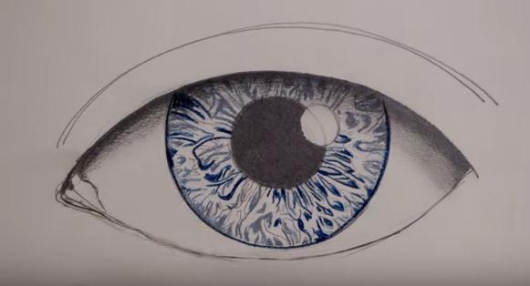 رسمة عين