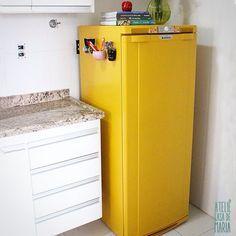 Como pintar uma geladeira velha - Ateliê Casa de Maria Mais