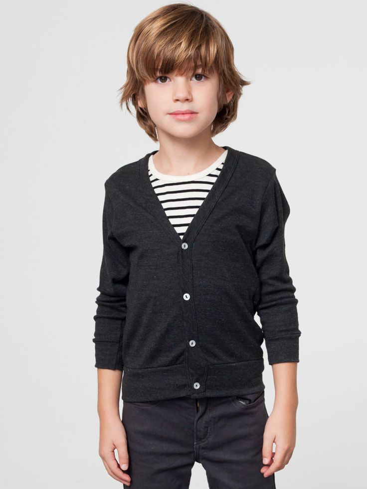 American Apparel - Kids Tri-Blend Rib Cardigan