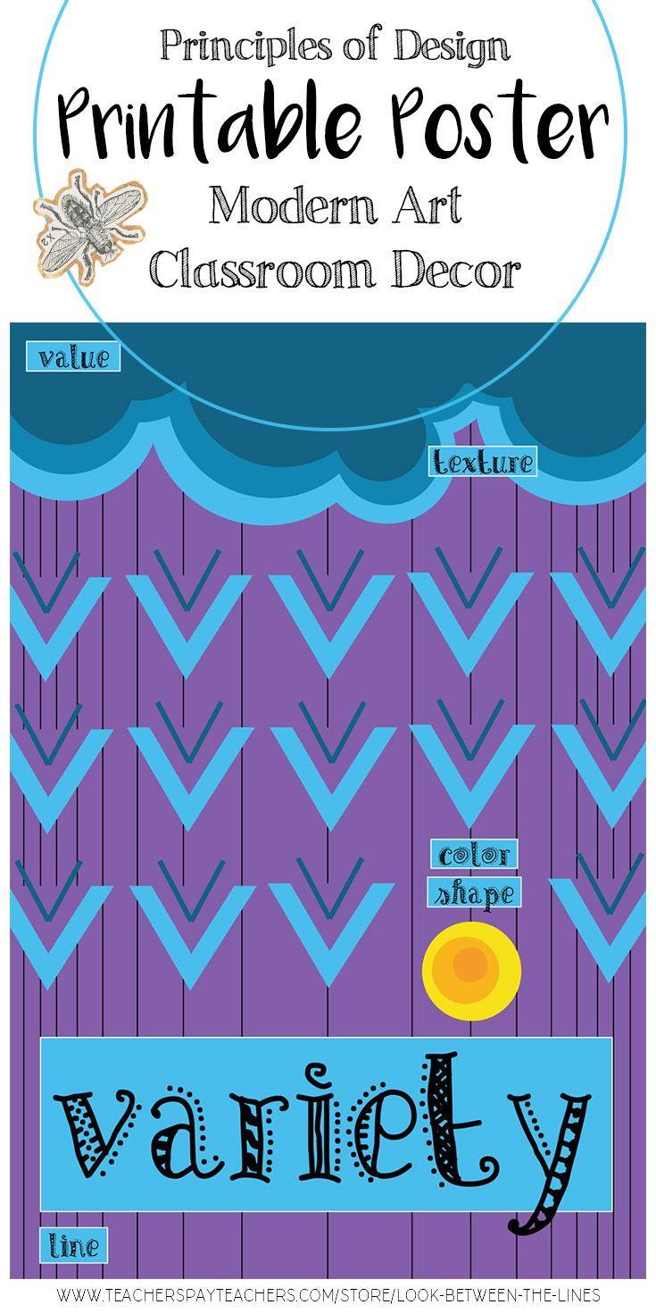 Variety, Principles of Design Printable Poster, Visual Art ...