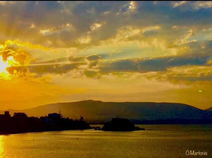 Sunrise from Kastella,Piraeus,Athens,Greece