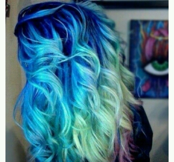 different shades of blue curly hair colorful hair pinterest shades of blue shades and. Black Bedroom Furniture Sets. Home Design Ideas