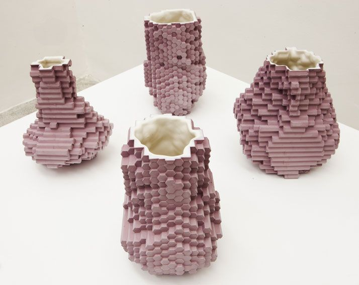 Pixel Vases Landscape by Julian F. Bond