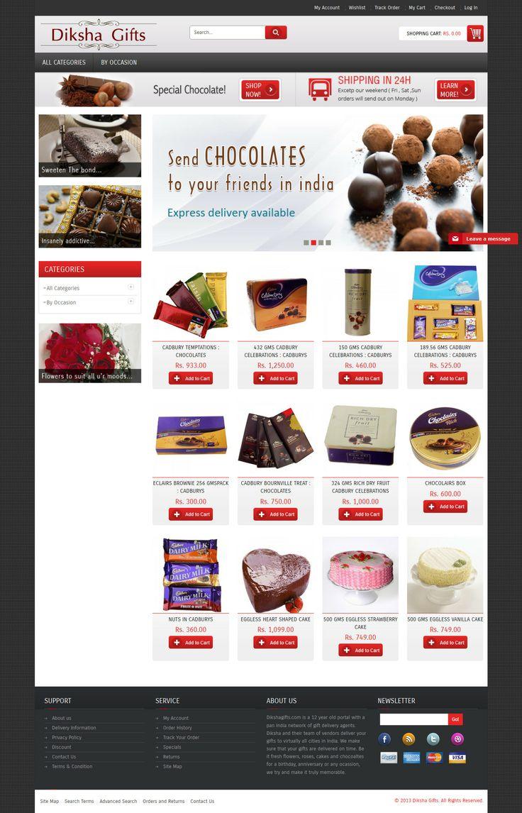 E-commerce Website Design for Diksha Gifts