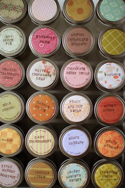 tea storage in a drawer - perfect organization