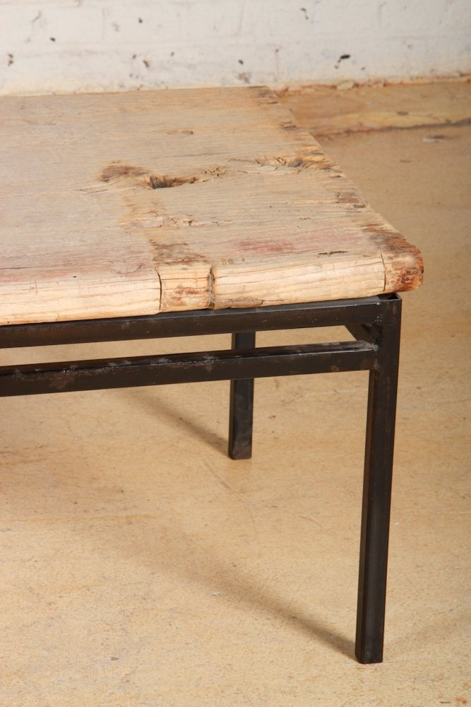 Modern Wood Slab Bench Coffee Table Wood Lot 76