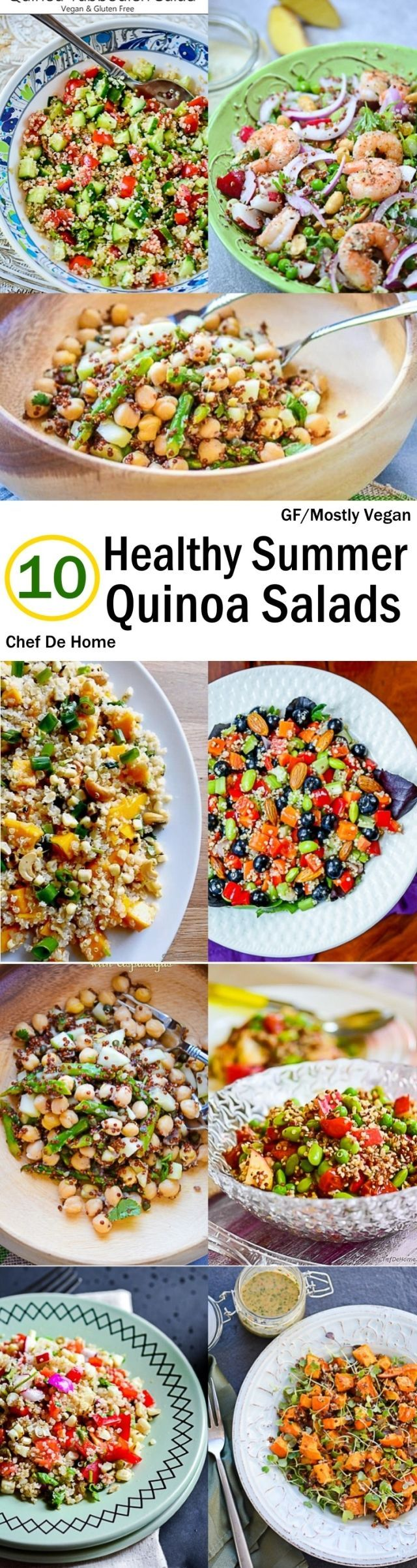 Sharing today, few of my favorite healthy quinoa salad recipes which are often on my weekday lunch menu. I love a bowl of salad for lunch in summers and frankly, any season of the year. And quinoa...