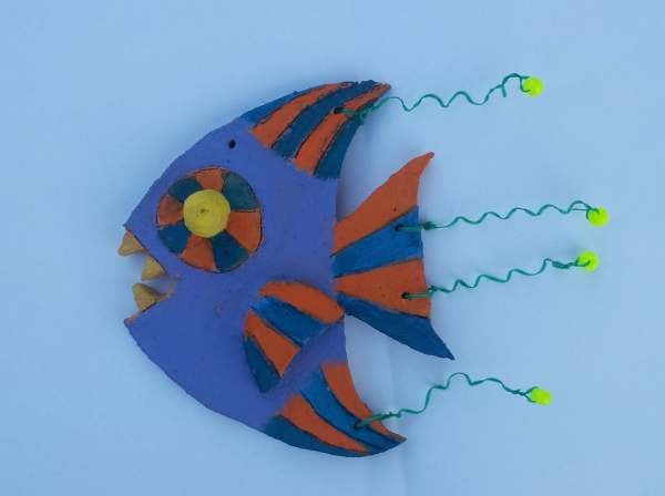 Dream painters clay funky fish jessica f year 6 clay for Dream about fish