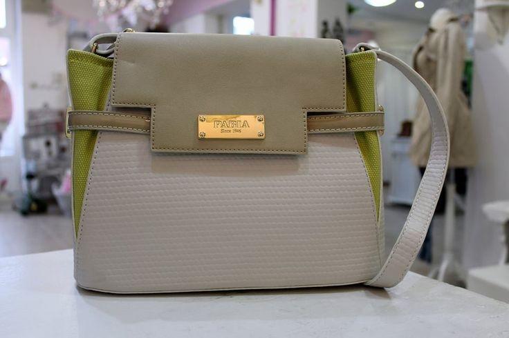 Pabia yellow-white beige bag