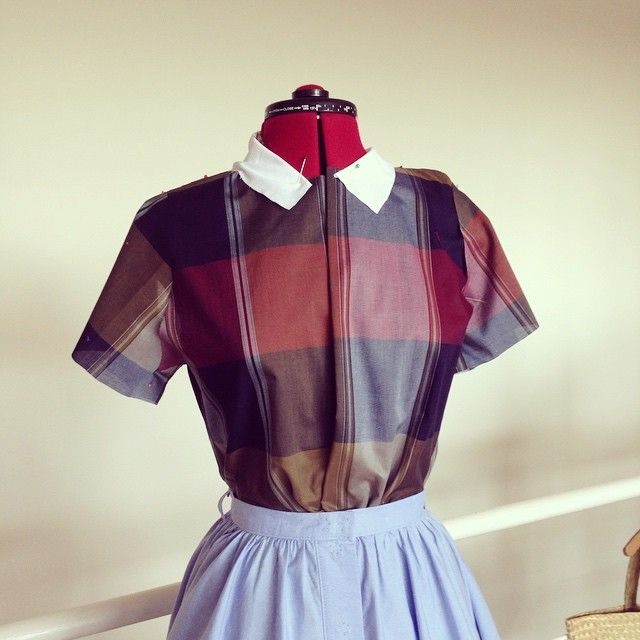 50s style blouse