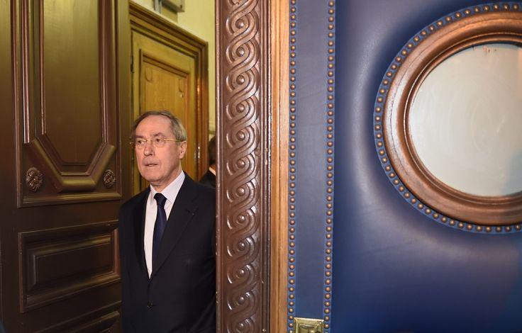 L'ancien ministre de l'Intérieur Claude Guéant lors de son procès le 28 septembre 2015.