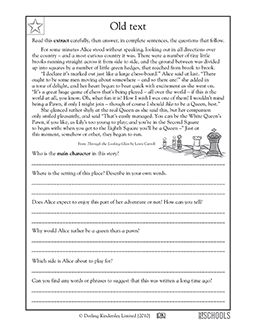 Year 6 Reading Comprehension Worksheets - Scalien