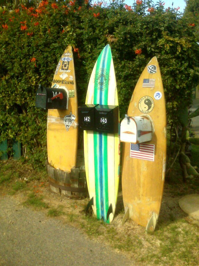 mail boxes with surf style ~~~ at our home after retirement....