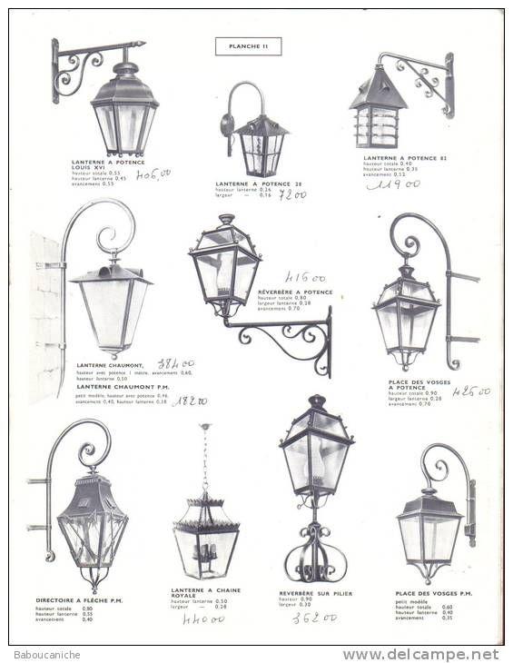 Catalogue LANTERNES EN FER FORGE / FERRONNERIE - Technical